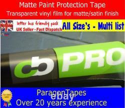 CLEAR MATTE Bike Frame PAINT Protection Tape Heli film Carbon TT Track Fixed BMX