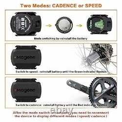 Speed/Cadence Sensor for Cycling, ANT+/Bluetooth 4.0 Wireless